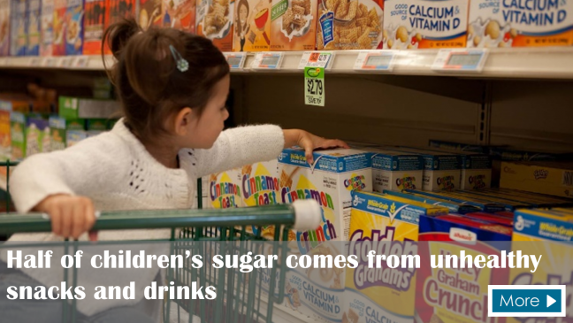 Half of children's sugar comes from unhealthy snacks and drinks